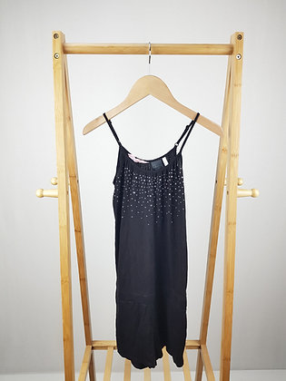 H&M black studded playsuit 10-11 years