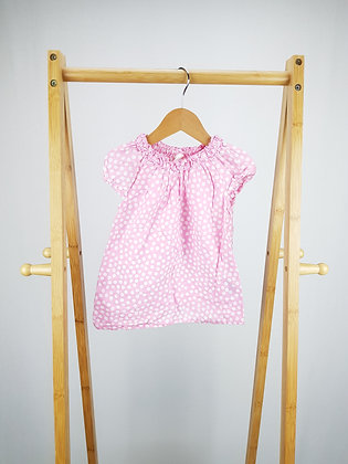 H&M pink spotted top 12-18 months