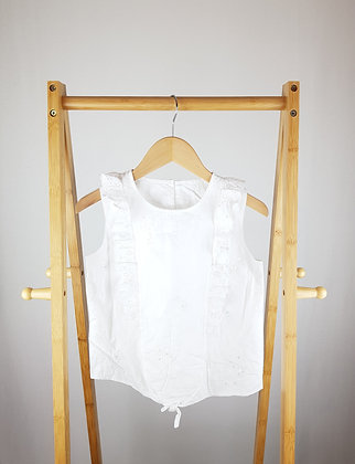 George embroidered white top 9-10 years