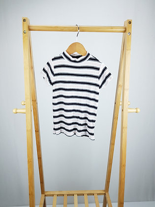 F&F striped ribbed t-shirt 6-7 years