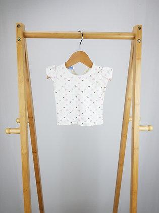 Disney heart print t-shirt 0-3 months