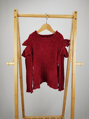 Express gifts red ruffle jumper 6-7 years