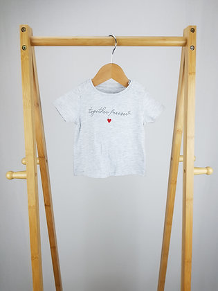 F&F together forever t-shirt 0-3 months