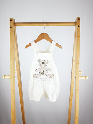 Mini mode teddy dungarees 6-9 months