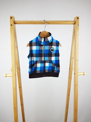 Carters checked fleece vest 3-6 months
