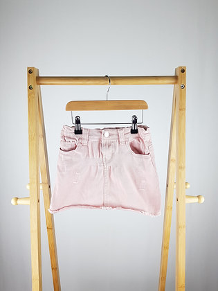 Denim Co pink denim skirt 6-7 years