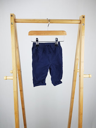 George navy trousers 0-3 months