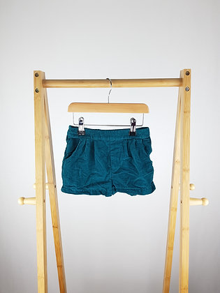 George teal cord shorts 3-4 years