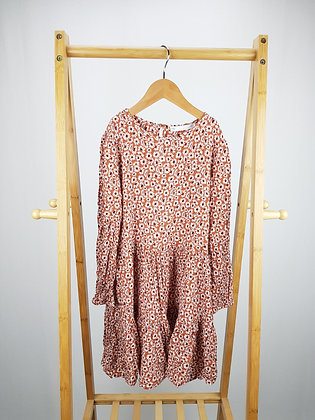 M&S long sleeve floral dress 8-9 years