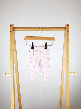 George floral bottoms with closed feet first size