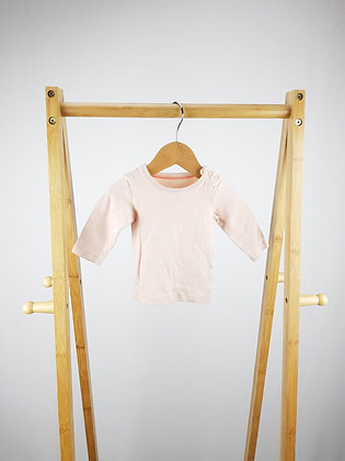 M&S pink long sleeve top 0-3 months