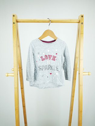 F&F love to sparkle long sleeve top 12-18 months