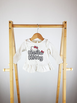 H&M Hello Kitty long sleeve top 4-6 months