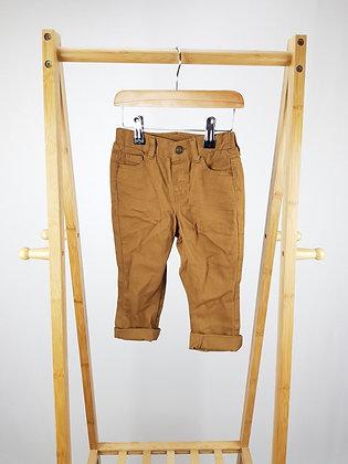 H&M brown denim trousers 12-18 months