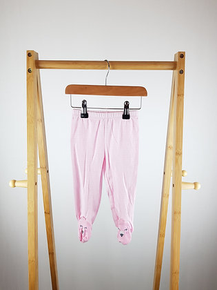 Carters striped bottoms with closed feet 6-9 months