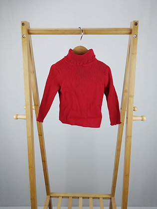 George red roll neck sweater 12-18 months