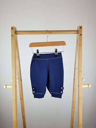Bluezoo navy  joggers 3-6 months