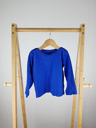 M&S blue long sleeve top 18-24 months