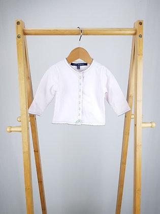 Lili Gaufrette pink cotton cardigan 3-6 months
