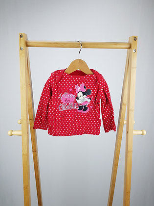 Disney Minnie Mouse long sleeve top 6-9 months