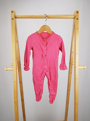 F&F spotted sleepsuit 3-6 months