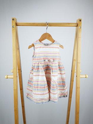 George striped dress 6-9 months