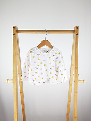 F&F cats & dog long sleeve top 9-12 months