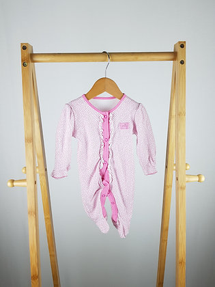 George pink sleepsuit first size