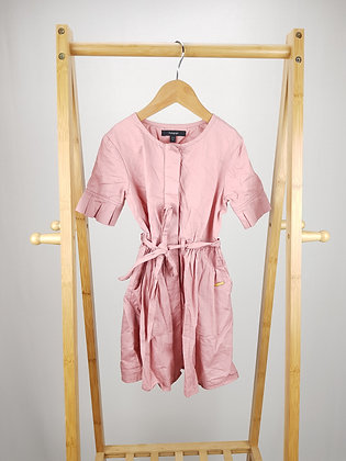 M&S dusky pink dress with belt 5-6 years