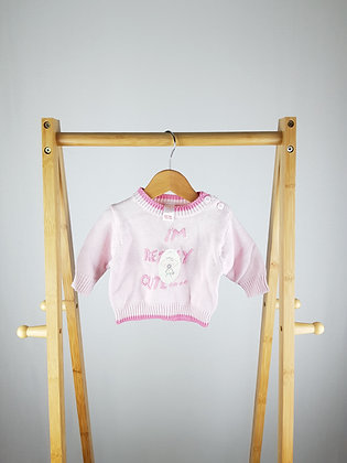 Baby I'm really cute knitted sweater newborn