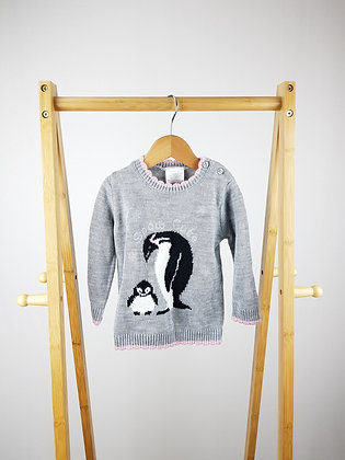 Lily & Dan knitted penguin jumper 12-18 months
