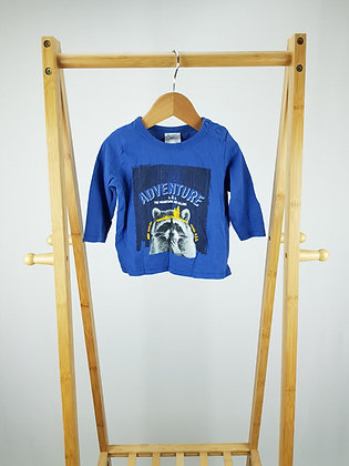 Dymples blue long sleeve top 9-12 months