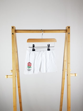 England Rugby white shorts 12-18 months