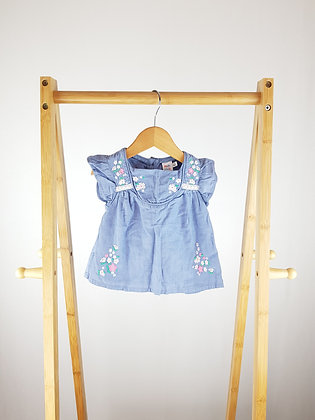 Mini club embroidered top 9-12 months
