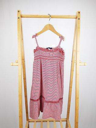GAP red/white  striped dress 4 years