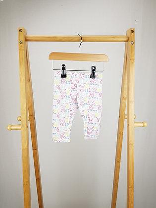 F&F floral leggings 3-6 months