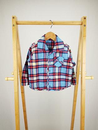 M&S tartan shirt jacket 12-18 months