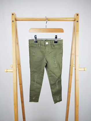 Denim Co khaki skinny jeans 2-3 years