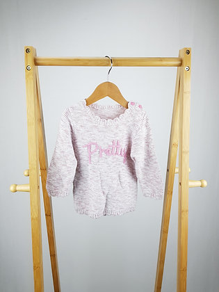 George pink knitted sweater 6-9 months