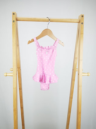 George spotted pink swimsuit 6-12 months