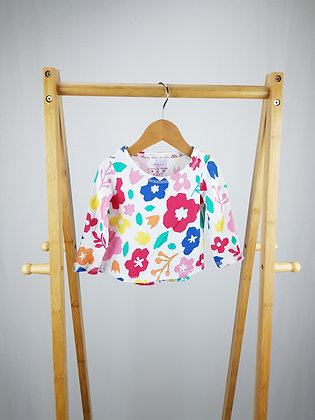 F&F floral long sleeve top 6-9 months