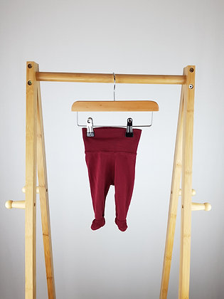 H&M burgundy bottoms with closed feet up to1 month