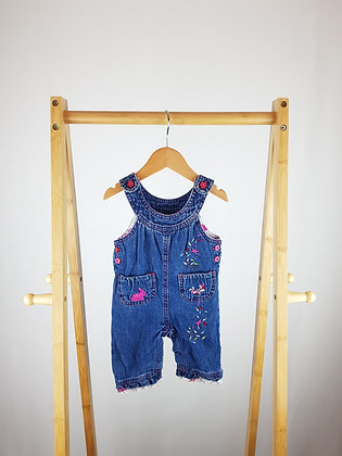 TU embroidered denim dungarees 0-3 months