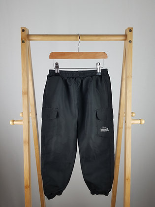 Lonsdale black tracksuit bottoms 3-4 years