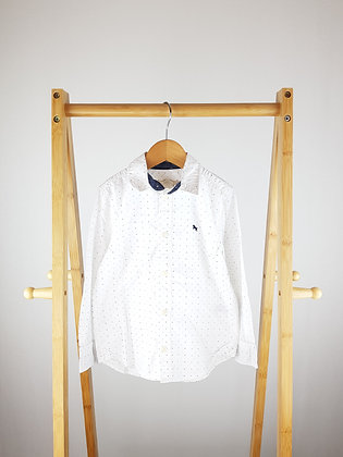 H&M white spotted shirt 4-5 years