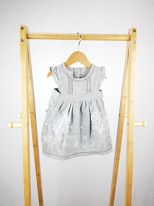 Monsoon embroidered wool mix dress 3-6 months