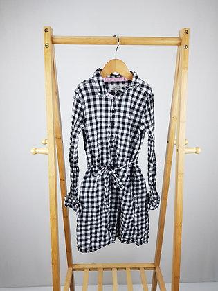 H&M checked shirt dress 7-8 years