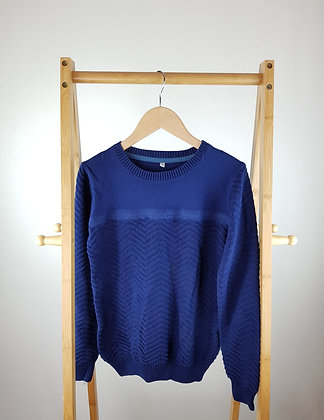 M&S blue knitted sweater 9-10 years