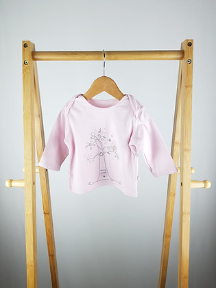M&S pink long sleeve top 3-6 months