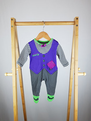 George mummy's little monster sleepsuit 0-3 months